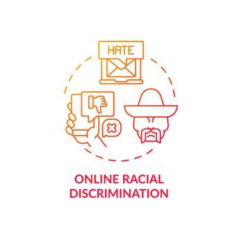 Online racial discrimination concept icon
