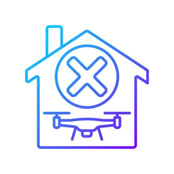 Dont use indoors gradient linear vector manual label icon