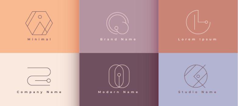 minimalist line logo concept design