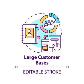 Large customer bases concept icon