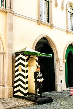 Republican national guard doing surveillance in Lisbon