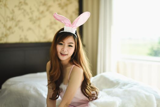 japanese sexy girl cosplay rabbit pink