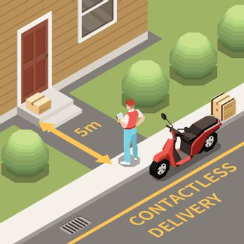 Contactless Delivery Background