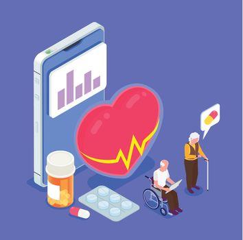 Elderly People Healthcare Isometric App