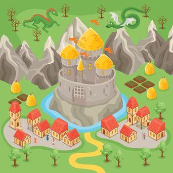 Fantasy City Illustration