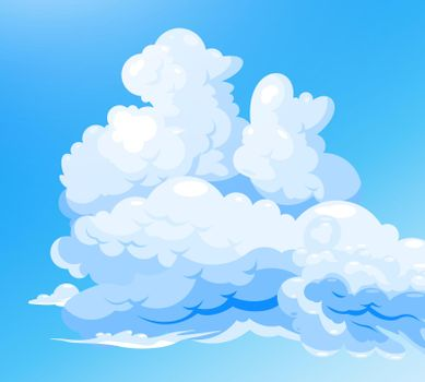 Cloudy Sky Blue Background
