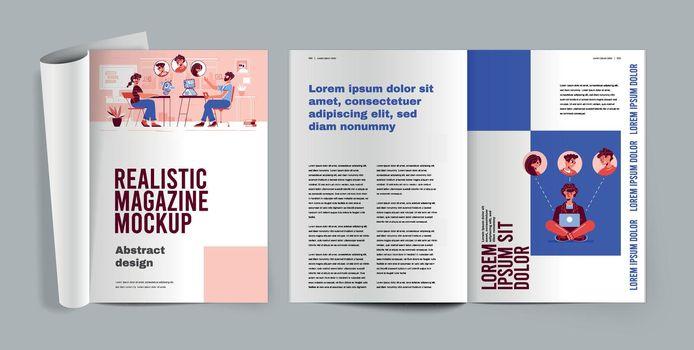 Magazine Mockup Realistic Design Concept