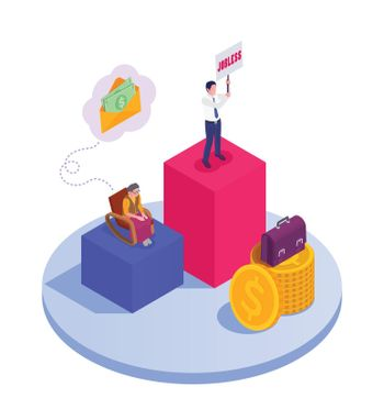 Wealth Security Isometric Composition