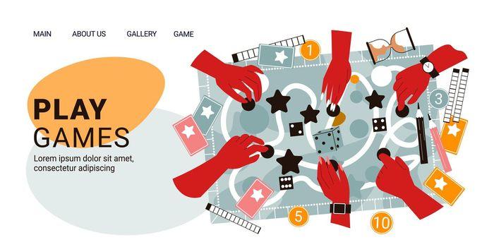 Board Games Hands Banner