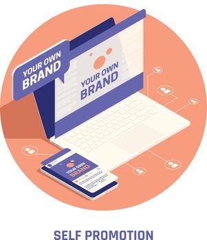 Self Branding Promotion Circular Composition
