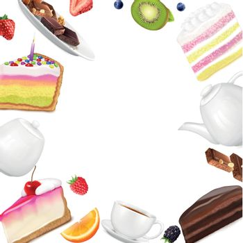 Cake Pieces Background