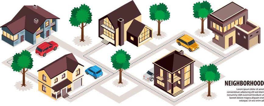 Modern Suburb Neighborhood Infographics