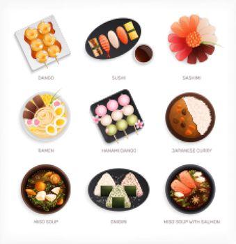 Japanese Dishes Flat Set
