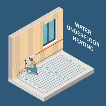 Heating System Isometric Illustration