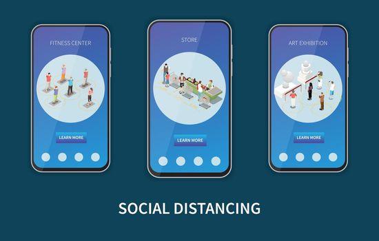 Social Distancing Vertical Banners