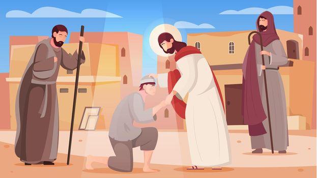 Jesus Flat Illustration