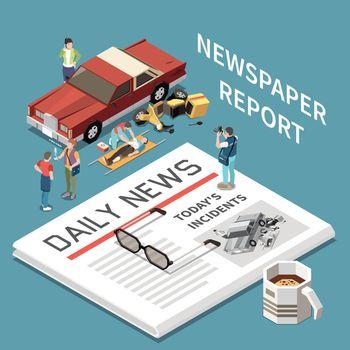 Newspaper Report Concept