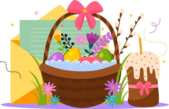 Easter Flat Composition