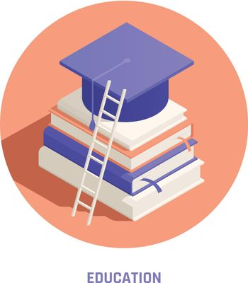 Branding Education Promotion Isometric Composition