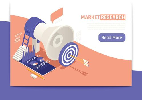 Market Research Isometric Banner