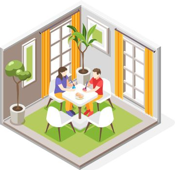 Celebrating Easter Isometric Composition