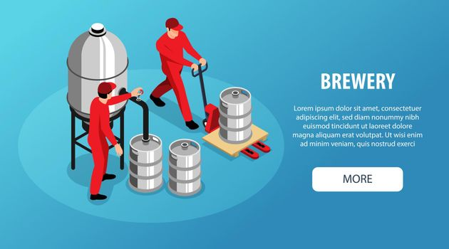 Brewery Isometric Banner