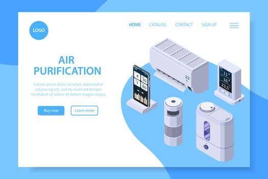 Air Purification Landing Page