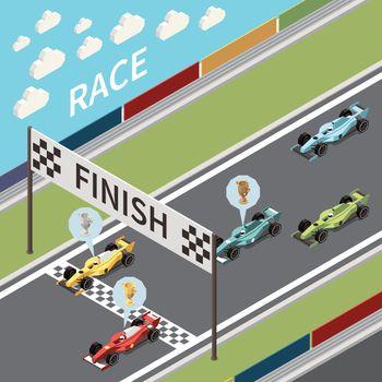 Race Finish Line Composition