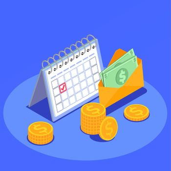 Social Security Isometric Background