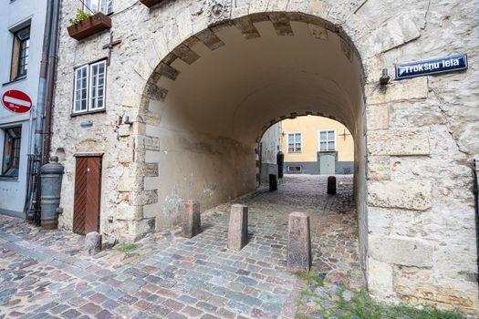 The Swedish Gate in Riga, Latvia.