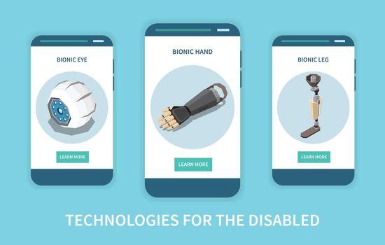 Bionic Tech Vertical Banners
