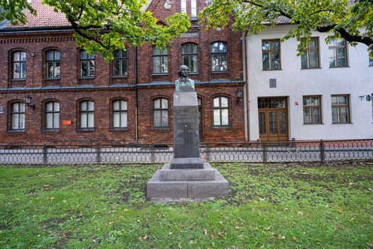 Johann Gottfried Herders bust in Riga, Latvia
