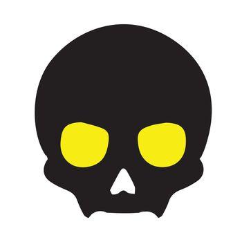 Halloween spooky elements. Cartoon halloween spooky evil silhouettes