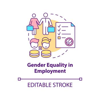 Gender equality in employment concept icon