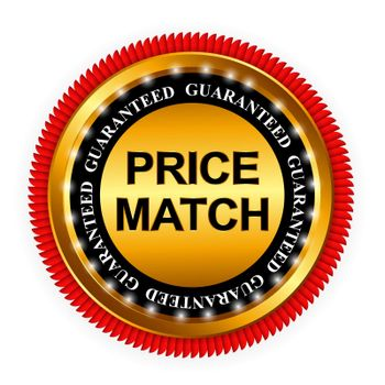 Price Match Guarantee Gold Label Sign Template Vector Illustration