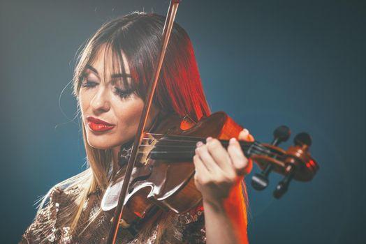 Beautiful Woman Plays Beautiful Music