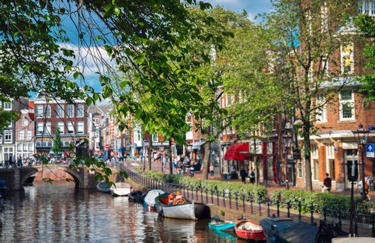 Water Canal in Amsterdam