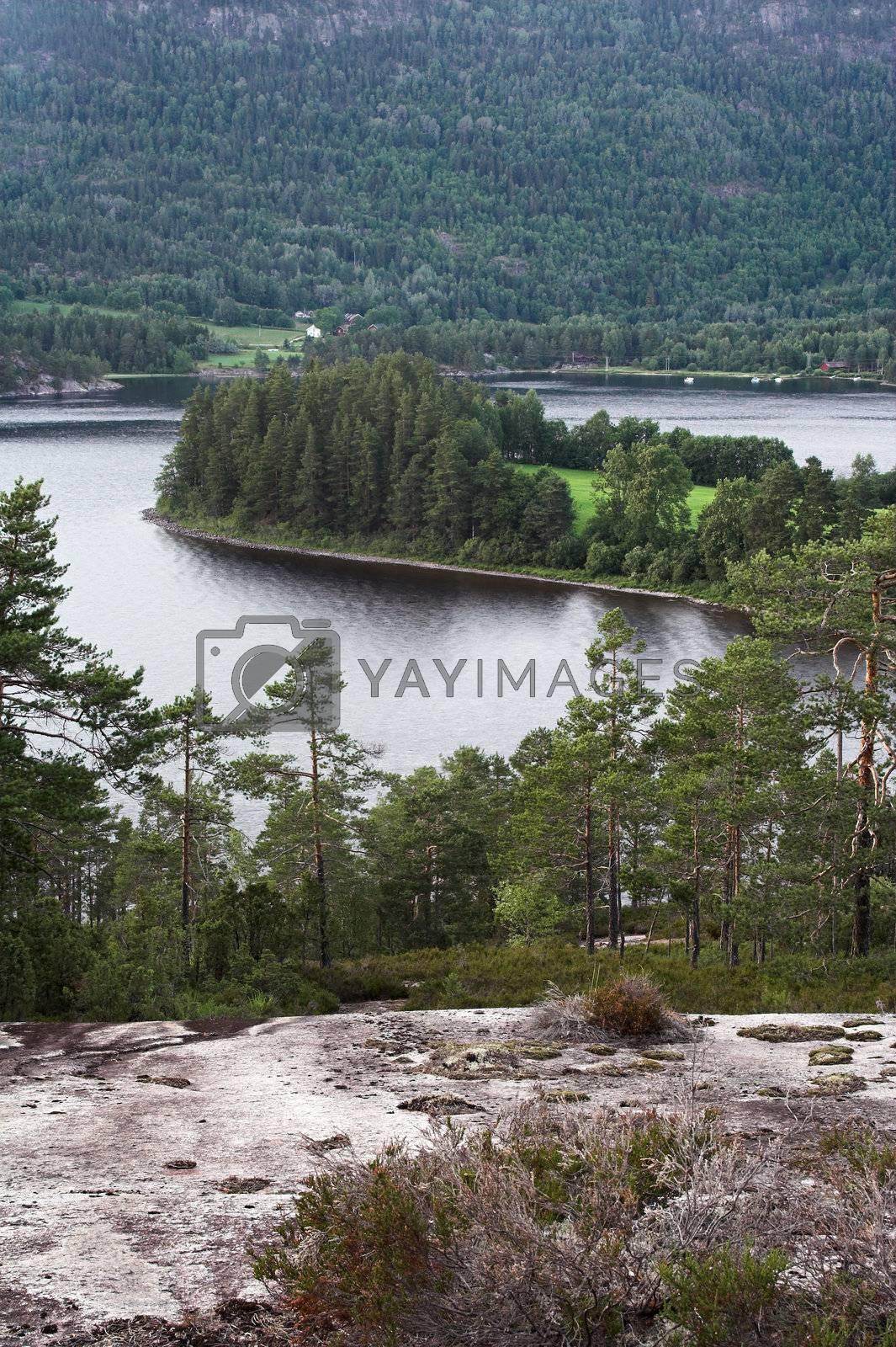 Seljord lake, Norway by MikLav