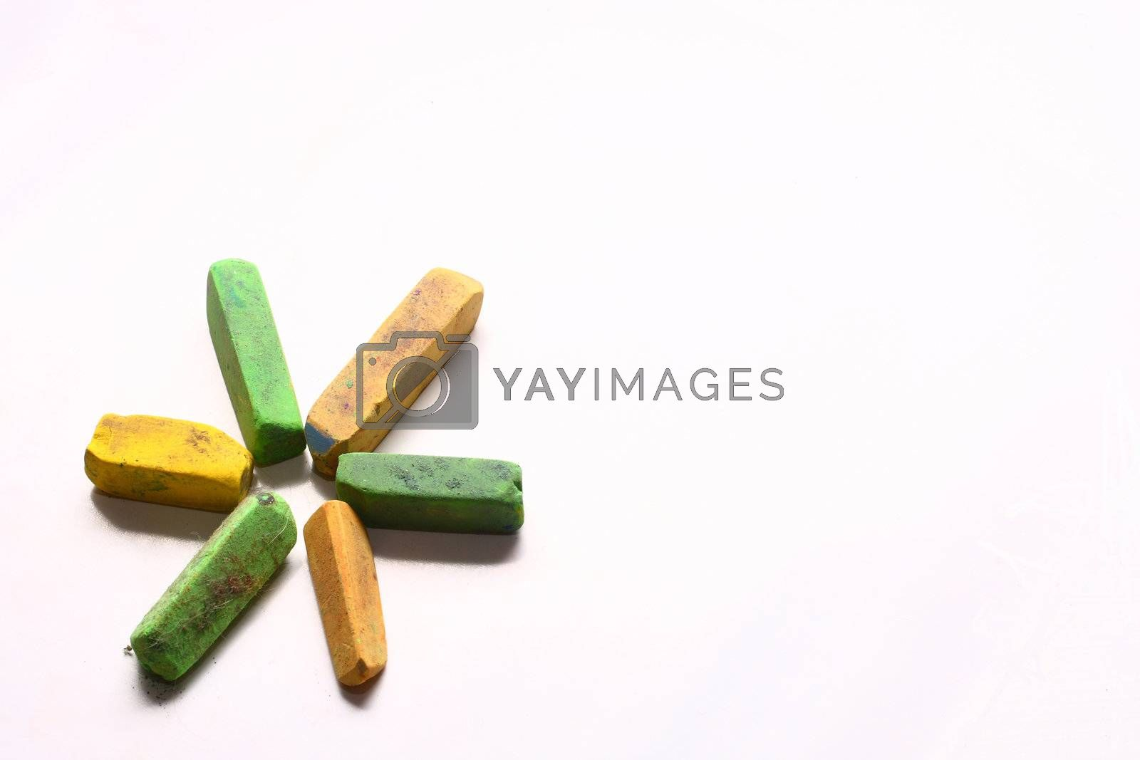 Green and Yellow Chalk Pastels by dersankt