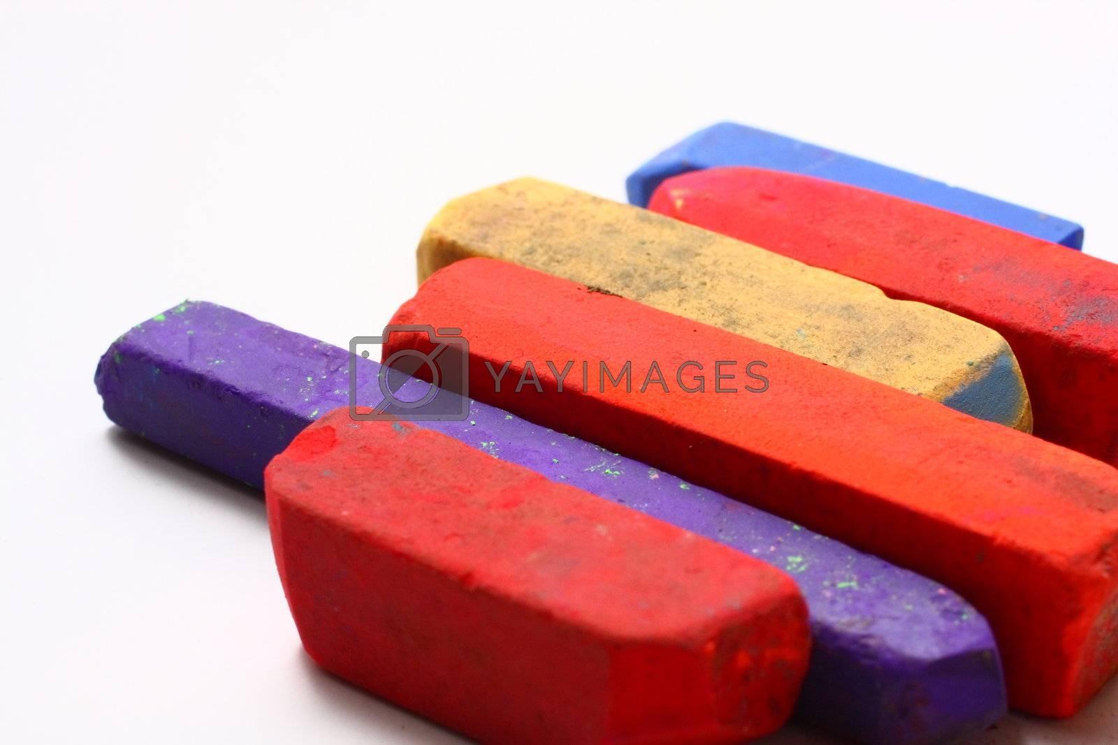 Colored Chalk Pastels by dersankt