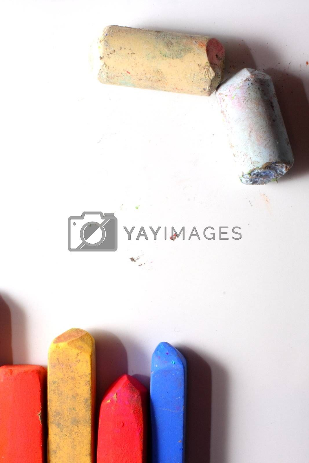 Colored Chalk Pastels by dersankt