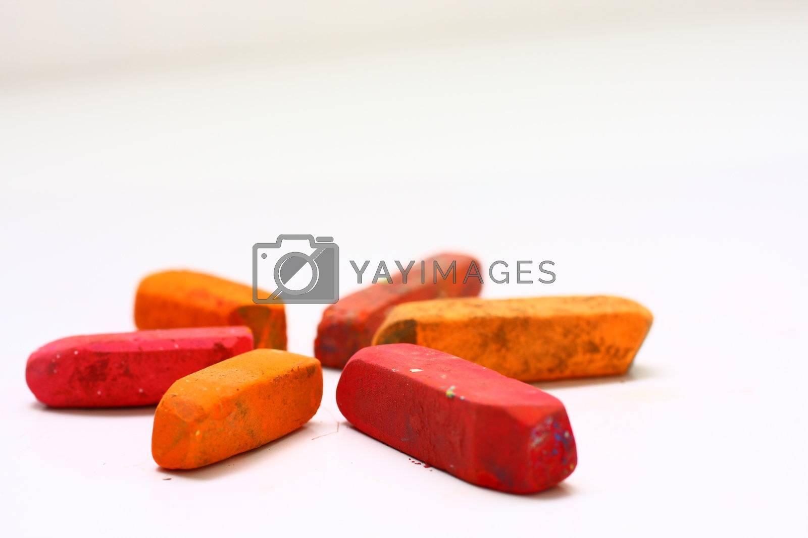 Red and Orange Chalk Pastels by dersankt