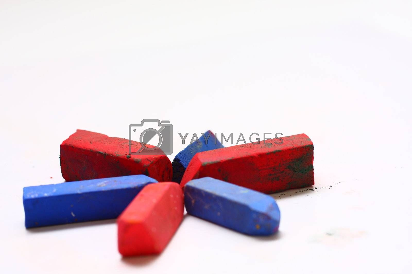Red and Blue Chalk Pastels by dersankt