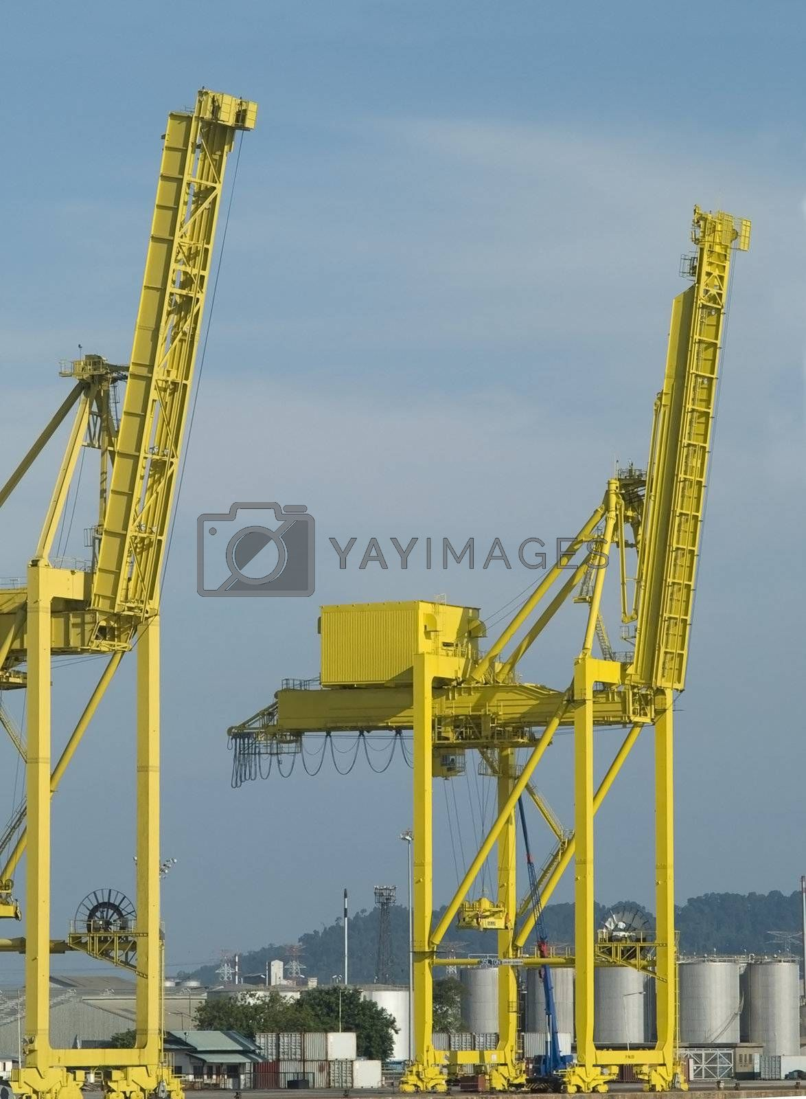 Two container cranes by epixx