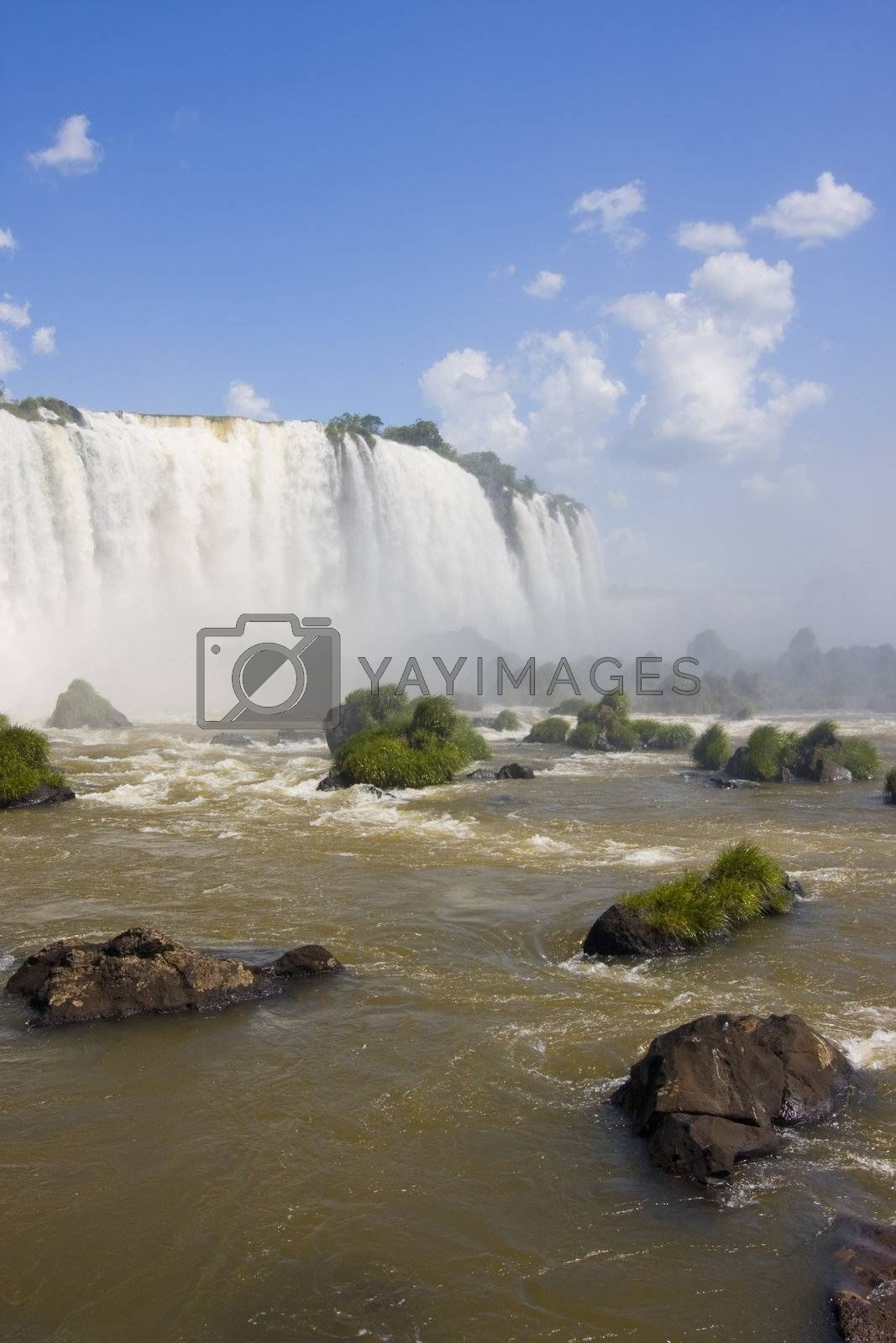 Part of the Iguassu falls on the brazilian side