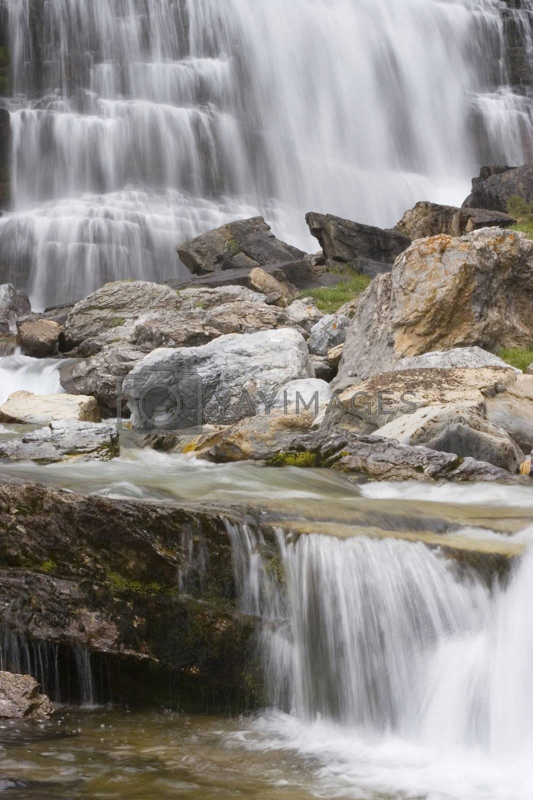 Cola de caballo - waterfall in the spanish national park Ordesa y Monte Perdido