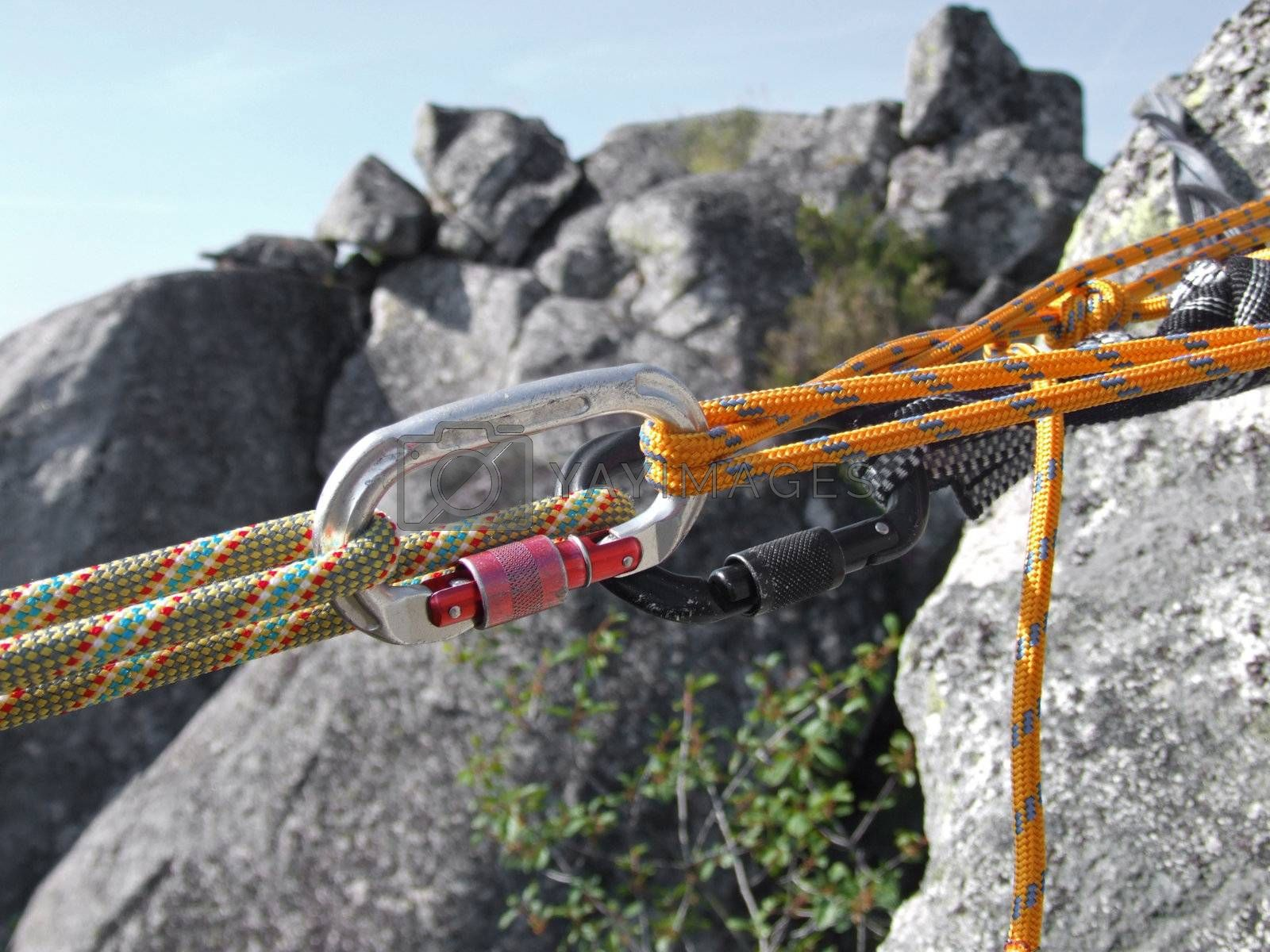 Equipment for mountain climbing and rappelling by PauloResende