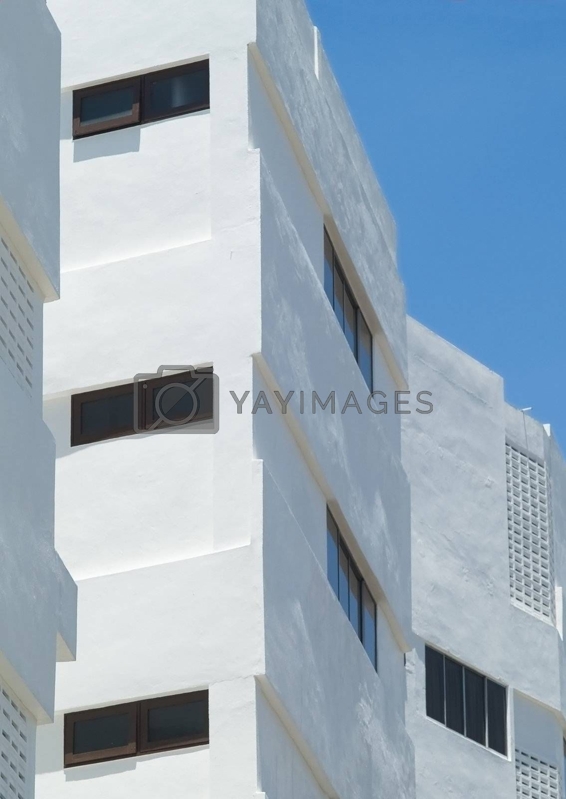 Detail of apartment building by epixx