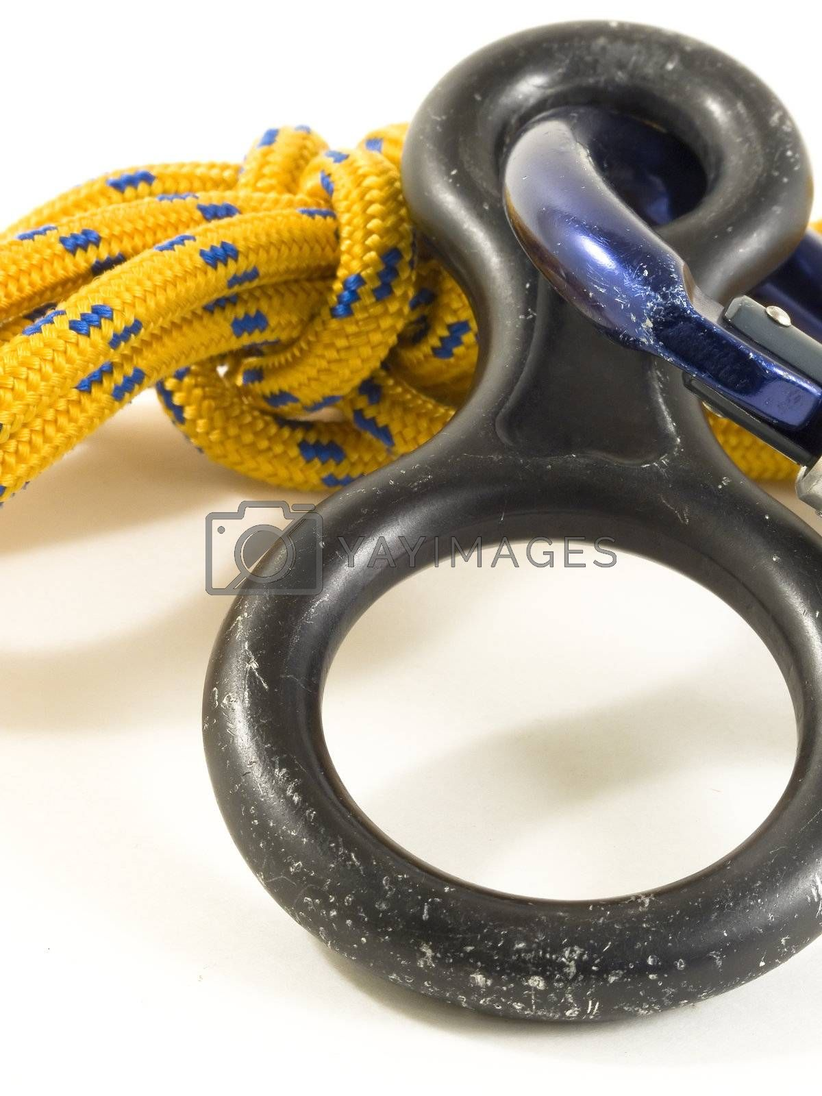 carabiner and rope with DOF by PauloResende