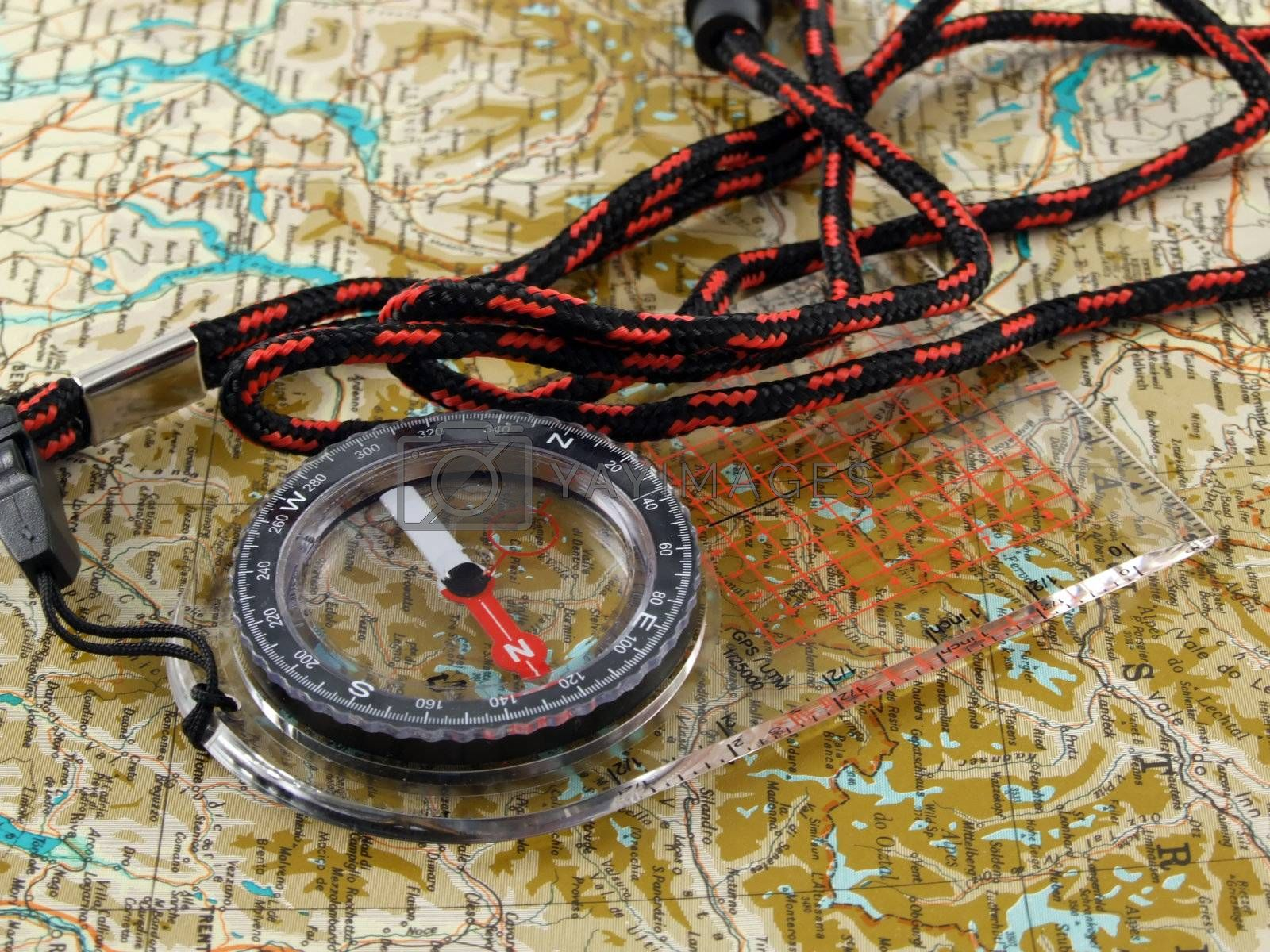 New compass on a map by PauloResende